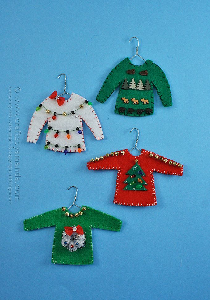 Ugly sweater ornaments DIY - Too funny!