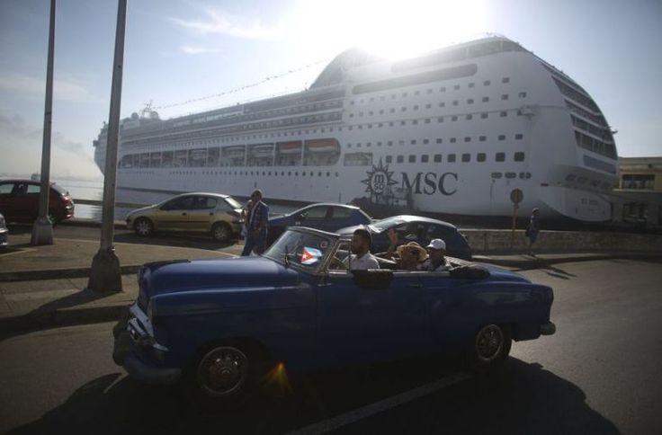 El crucero MSC Opera llega al puerto de La Habana (Reuters)