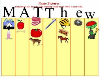 Elementary Technology Lessons: Kidspiration Name Pictures