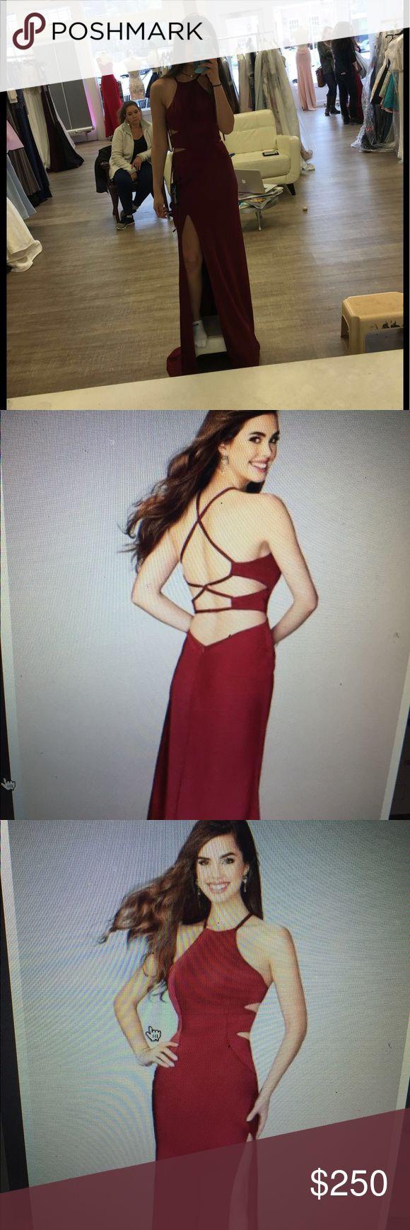La femme prom dress Selling a size 00 burgundy lafemme prom dress originally $318. Never worn!! La Femme Dresses Prom
