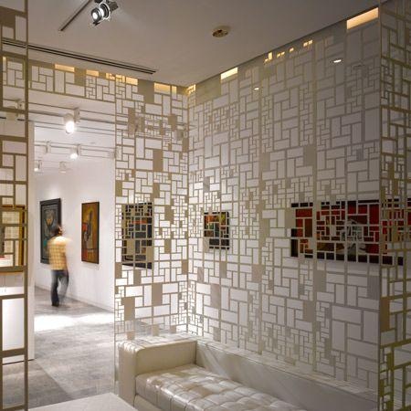 Gio Ponti cast glass custom screen fabricated by Urban Archaeology