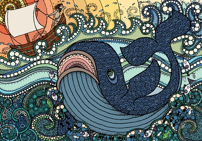 ...Jonah and the Whale Art Print - Pattern Tree
