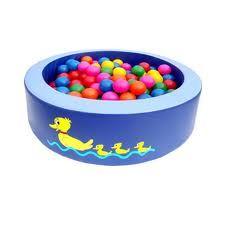 Piscina de pelotas  Promueve el aprendizaje, afianza la seguridad del niño y desarrolla su equilibrio y control postural.  Edad: Hasta los 3 añitos