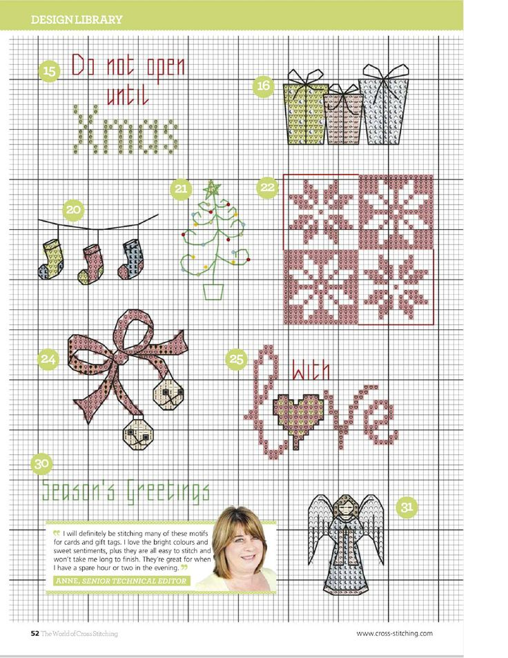 TS Last Minute Christmas Makes by Rhona Norrie 6/9 The World of Cross Stitching Issue 223