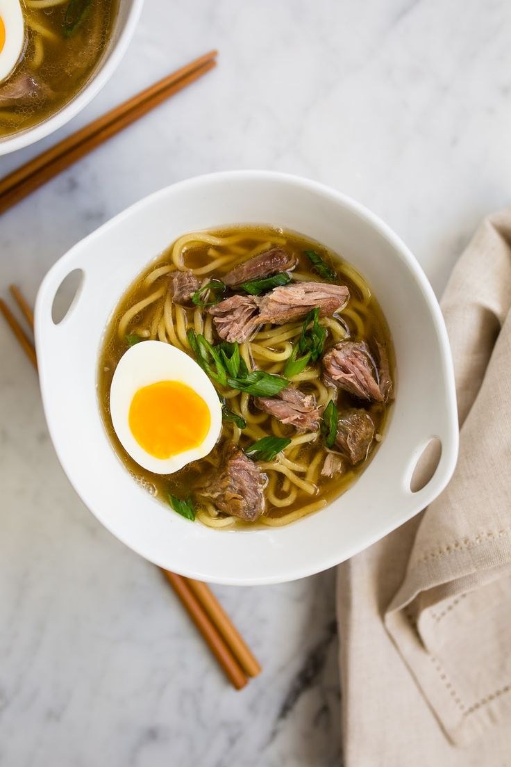 Slow Cooker Pork Ramen /