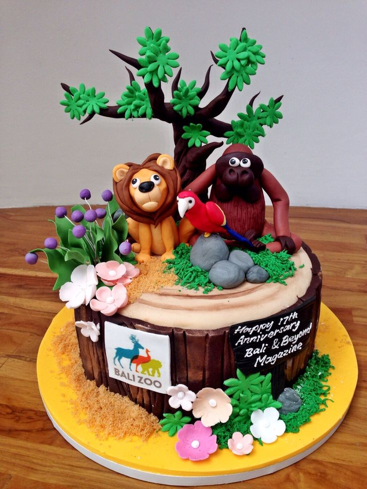 Birthday Cake Jungle Themed