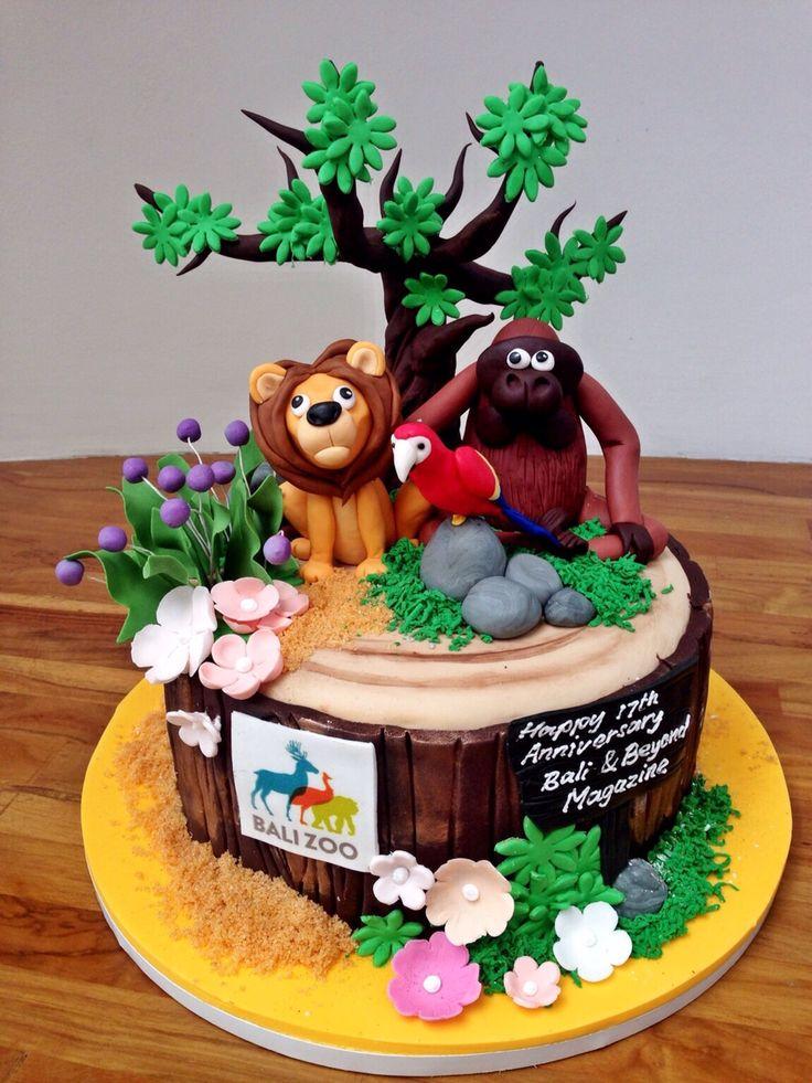 Birthday Cake Jungle Themed