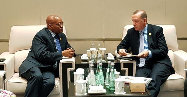 Erdoğan, Güney Afrika Devlet Başkanı Zuma ile görüştü