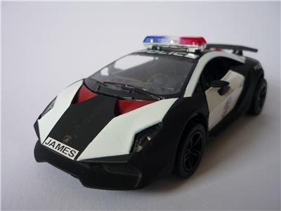 Personalised Plate Police Car Lamborghini Sesto Elemento