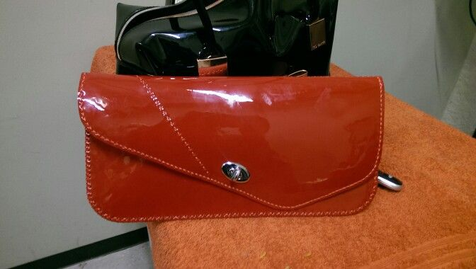 ROW hand made leather clutch