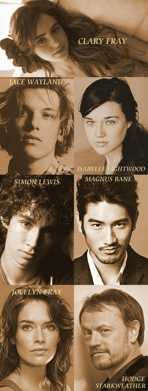 The Mortal Instruments: City of Bones (2013) // Official Cast. I'm sorry, but I cannot see that guy as Jace. Sorry, but no.