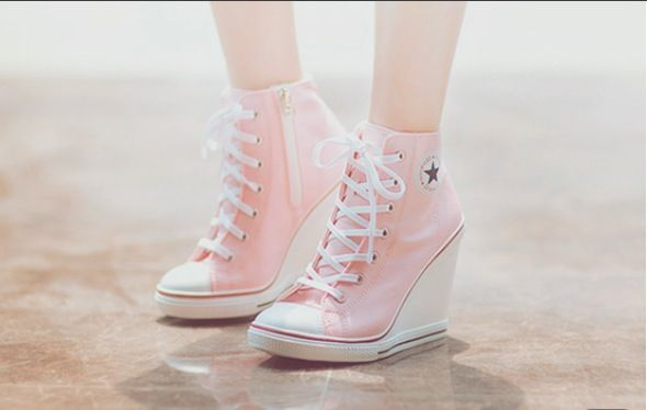 High heel converse wedges for the girls =)
