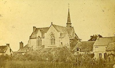 Chapel ND Behuard 49170 Angers France Old CDV Photo 1870