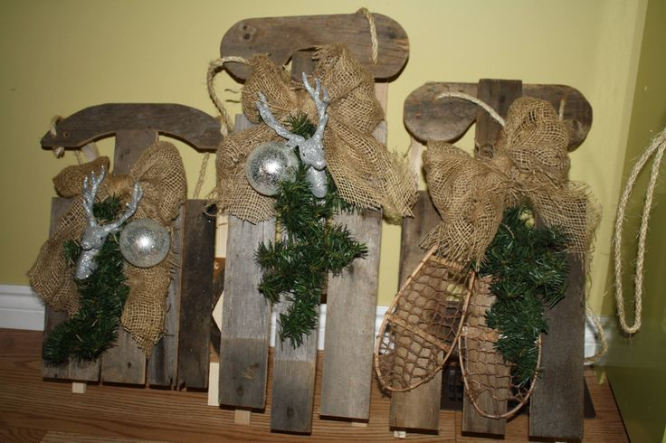 Handmade barn board sleighs. Pick-it-Fence Pembroke,ON www.facebook.com/pickitfence