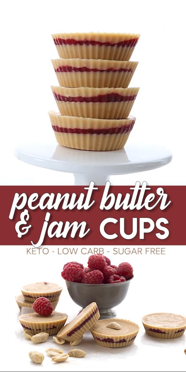 Peanut Butter and Jam Cups – Sugar-Free