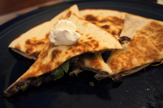 Black Bean and Goat Cheese Quesadillas | Yummy! | Pinterest