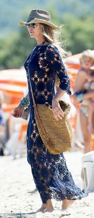 Same motifs in this dress - crochet pattern