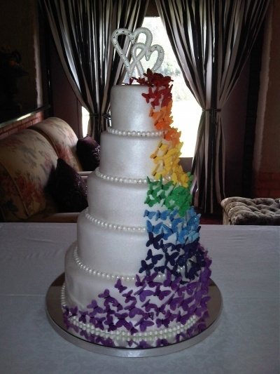 Butterfly wedding cake By NurieB on CakeCentral.com