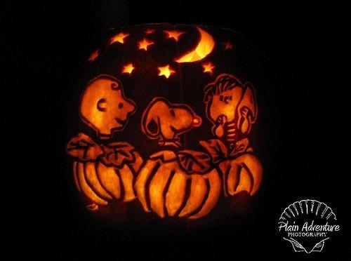 charlie brown pumpkin  #Halloween #Pumpkin #Carved #Decoration