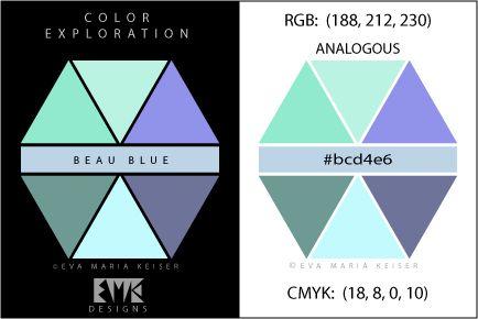 """Eva Maria Keiser Designs: Explore Color: """"Beau Blue"""" - Analogous"""