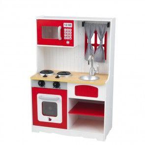 Niedliche Kinderküche im Landhaus-Stil - KidsKraft Modell Country in Rot-Weiß