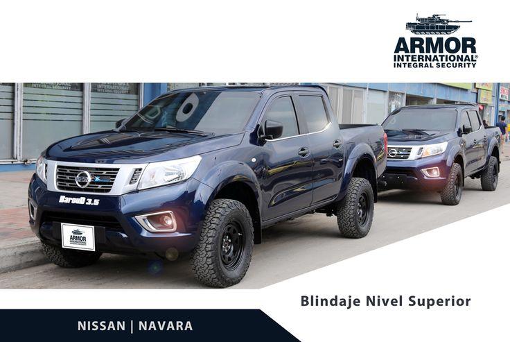 This Nissan Navara│2018 has been armored by Armor International in: Nissan aprueba de balas blindado en nivel 4 contra armas largas.Armor International Colombia