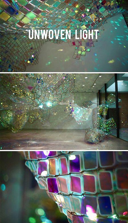 Unwoven Light by Soo Sunny Park #art #sculpture #installation