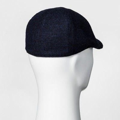 Men's Herringbone Driving Cap - Goodfellow & Co Navy M/L, Blue
