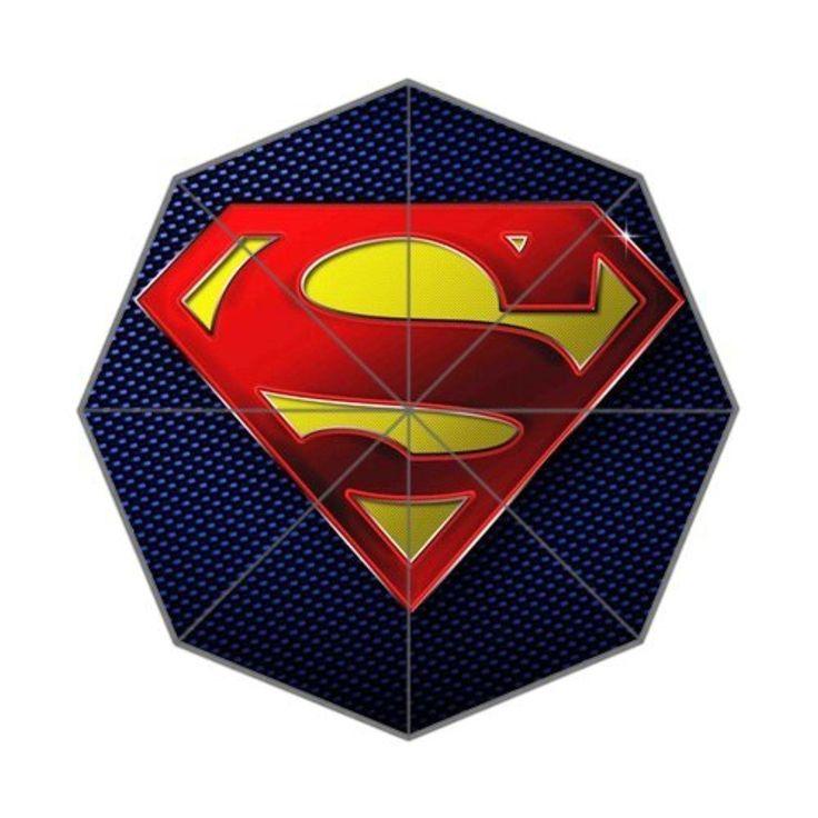 Superman Logo Custom Foldable Umbrella Men Women Kid's Umbrella Travel Umbrella Anti Uv - Brought to you by Avarsha.com