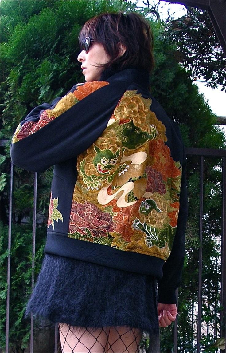 Made of an antique Japanese kimono
