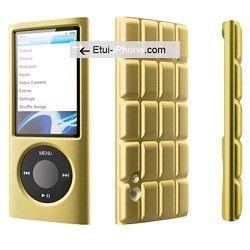 Protection silicone iPod Nano 5G cube Gold sur http://www.etui-iphone.com/ rubrique #ipod #nano