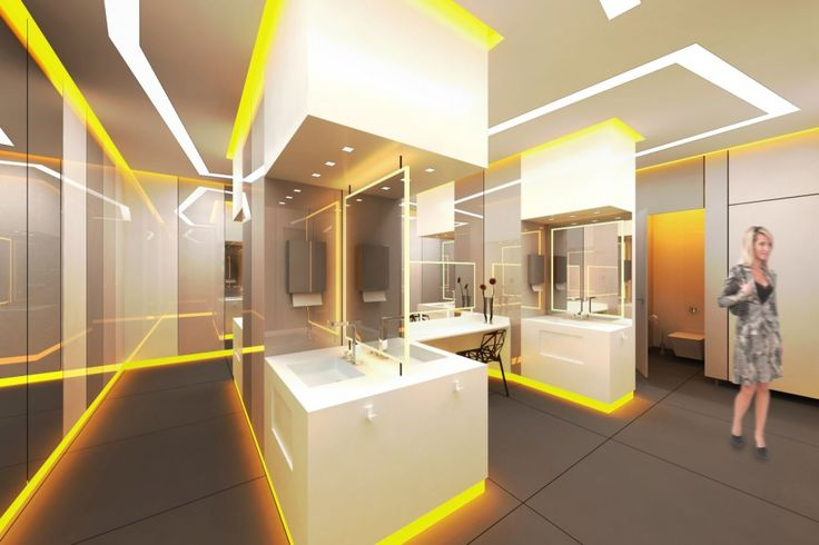 Projekt toalet w Wola Parku według Żera 2 Architekci - jedna z koncepcji