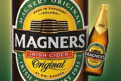Magners Cider, from Ireland.