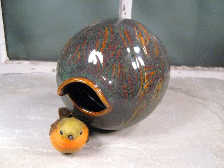 Bird Bottle Traditional Birdhouse Second Discounted by AntB