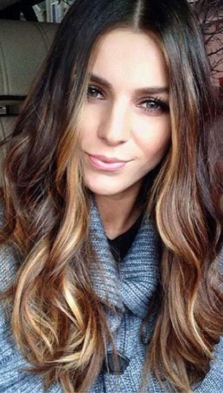 Brown Hair With Caramel Highlights by tanya