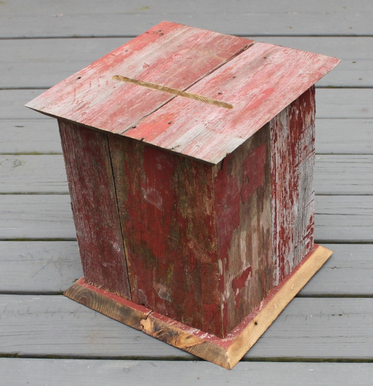 wood wedding card holders%0A Brides are loving our fun colorful red barnwood card boxes  www theperfectcardbox com