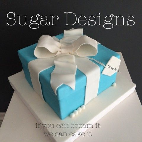 Tiffany Box Cake Jewellery Box Cake Women's cake #birthdaycake #sugardesigns