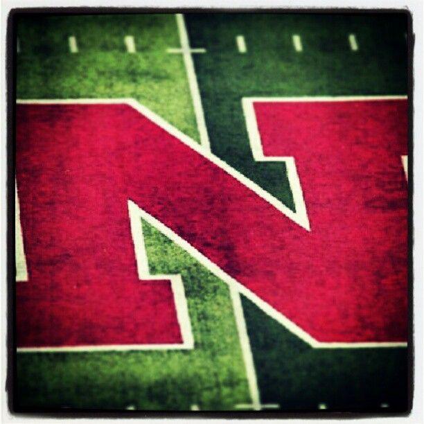 The Iron N of Nebraska, midfield at Memorial Stadium in Lincoln.