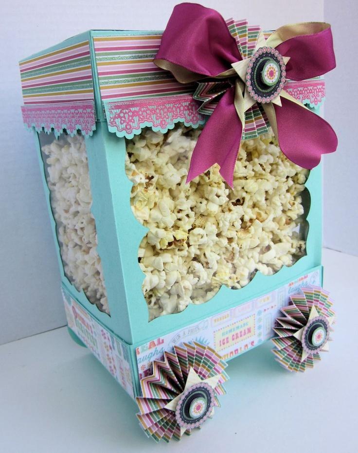 "Popcorn! Popcorn! This popcorn cart 11""h x 8""w x 7""d"