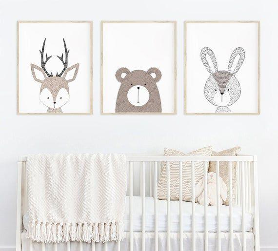 Woodland Nursery Decor Neutral Nursery Decor Baby Boy | Etsy | Nursery Wall Art Boy, Woodland Nursery Decor, Nursery Decor Neutral