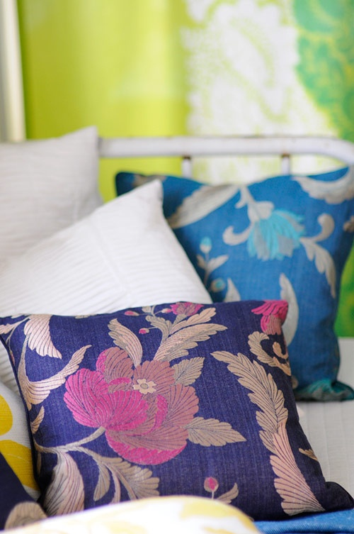 Beautifully patterned pillows with great colors