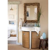 pedestal sink and tall cabinet - Google Search