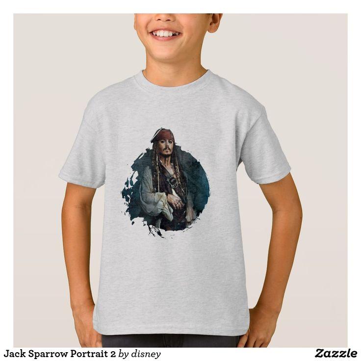 Jack Sparrow Portrait 2. Producto disponible en tienda Zazzle. Vestuario, moda. Product available in Zazzle store. Fashion wardrobe. Regalos, Gifts. Trendy tshirt. #camiseta #tshirt