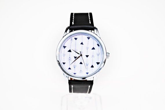 Check out this item in my Etsy shop https://www.etsy.com/listing/495848343/arrows-watch-black-and-white-gift-cute