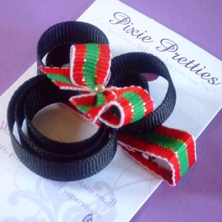 christmas tree hair clip | ... minnie, mickey, disney, mouse, clippie, hair clip, hair bow, hairbow