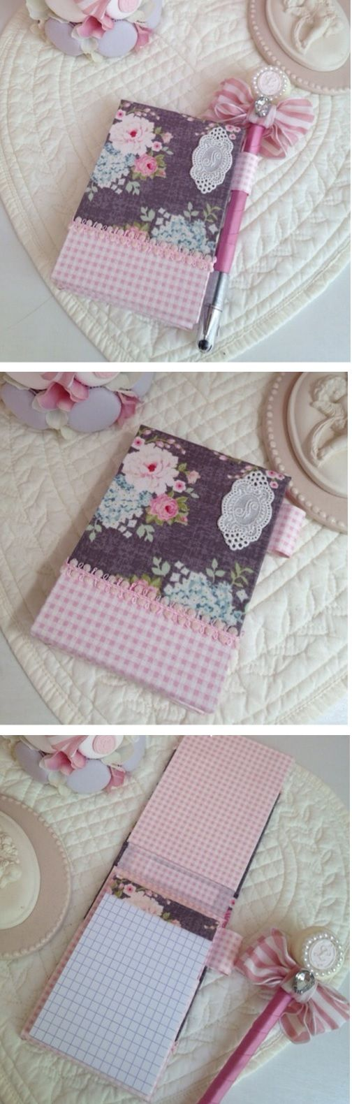 Neat idea for notebook and pen set. :)