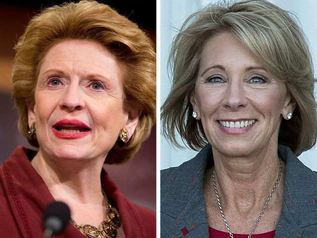 Sen. Debbie Stabenow rejects Betsy DeVos as education secretary (Michigan Senator & US Rep. will vote AGAINST her confirmation)