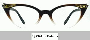 Fete Jeweled Cat Eye Glasses - 539G Brown