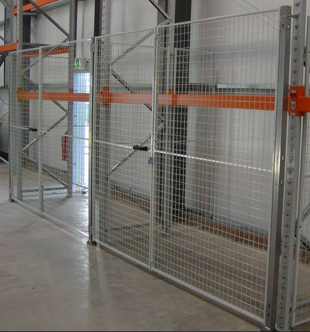 Security cage built into apex pallet racking by Storage Design Limited