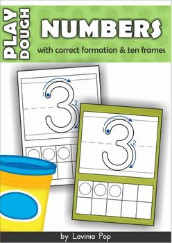 Play Dough Mats NumbersPlay Dough Mats Numbers (0-20) with Ten FramesAbout this book:This book contains a set of number play dough mats with correct formation and ten frames for numbers 0-20. The mats are available to print with a colored background or with a white background.